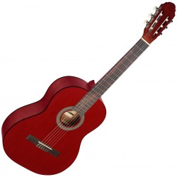 Класическа китара 4/4 червен мат STAGG